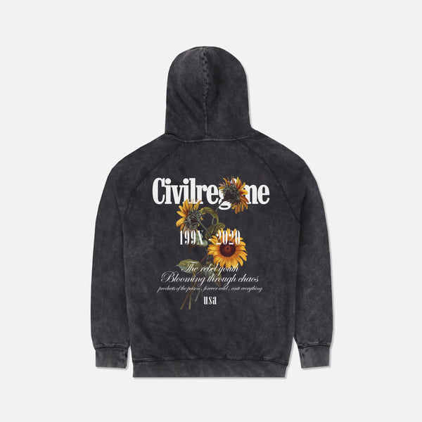 Bloom Forever Hoodie in Vintage Black