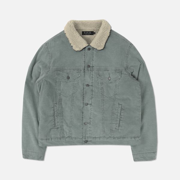 Corduroy Sherpa Jacket in Pigment