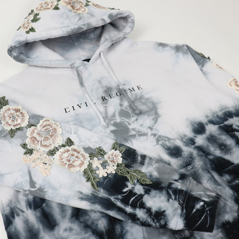 Blanco Roses Hoodie in Ice Wash (Releasing 8/16/20)