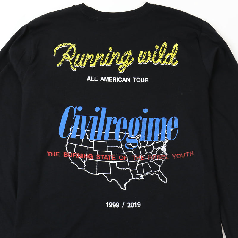 Running Wild (LS) Tee in Black