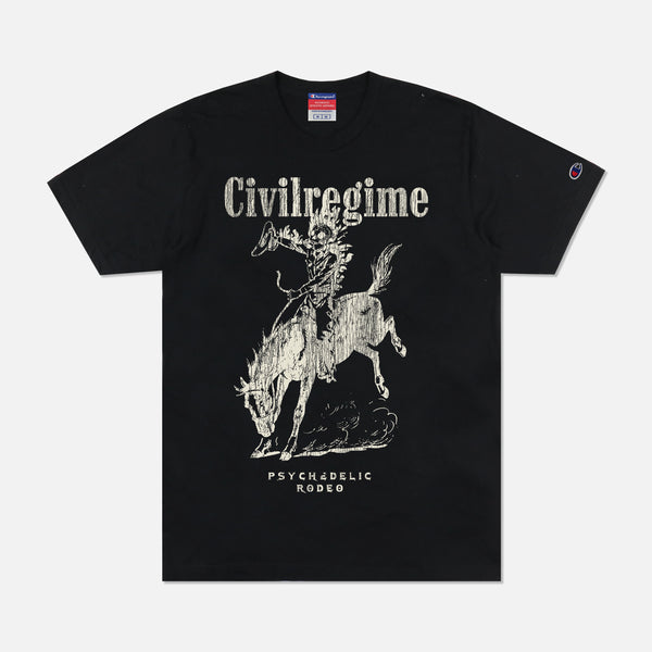 Psychedelic Rodeo Champion Tee in Black