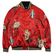 Rosary Satin Jacket in Red