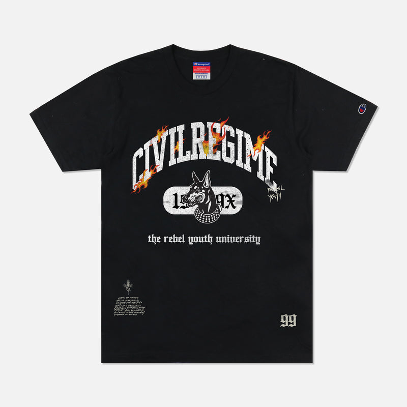 R.Y.U. Champion Tee in Black