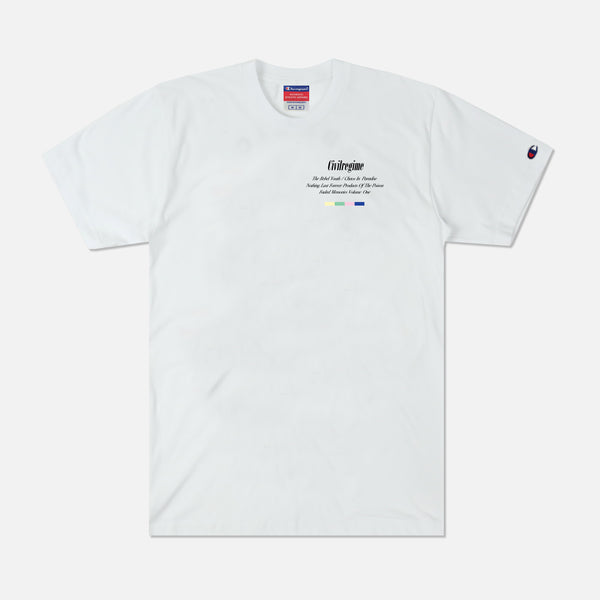 Volume One Champion Tee in White