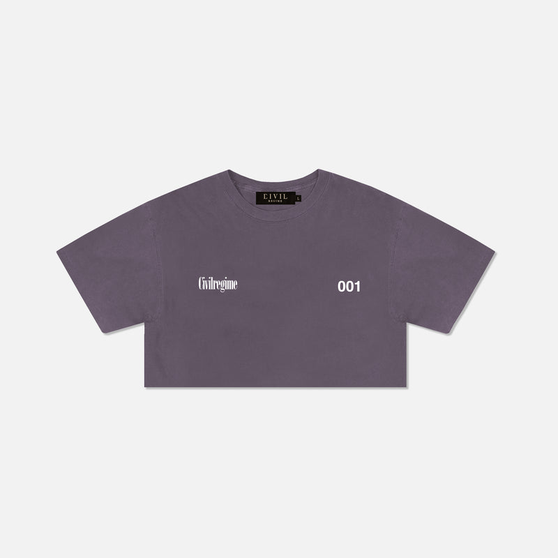 (S.I.N.) Gates (Cropped) Tee in Wine