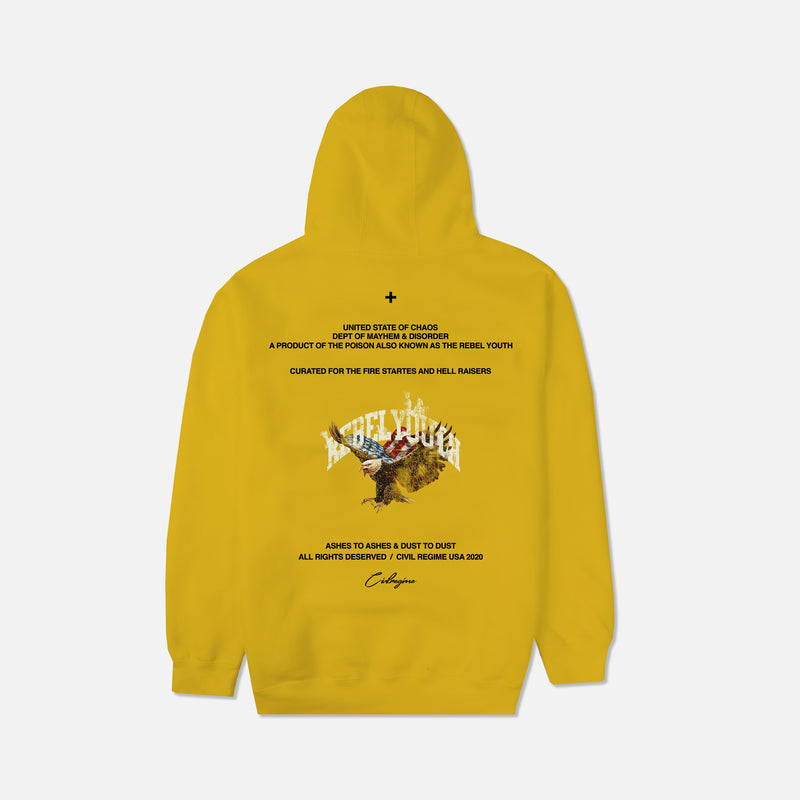 Youth Rights Champion Hoodie in Mustard