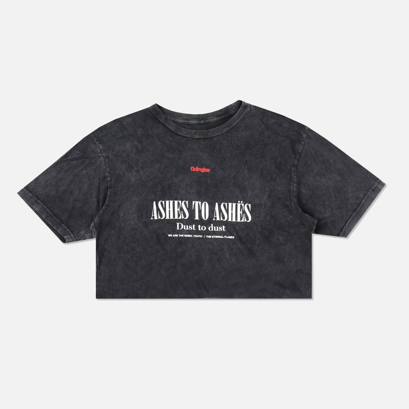 Ashes To Ashes (Crop) Tee in Vintage Black