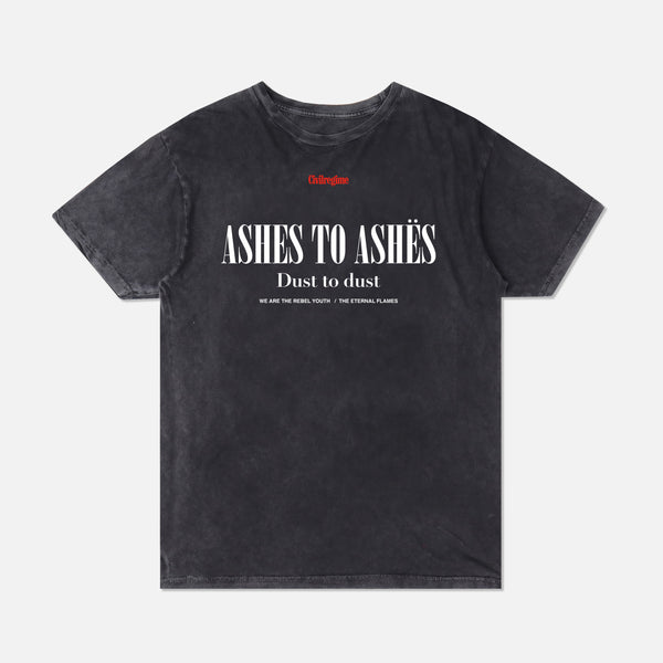 Ashes To Ashes Tee in Vintage Black