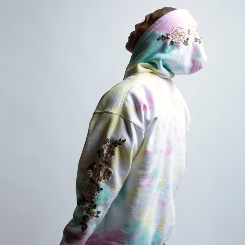 Blanco Roses Hoodie in Faded Spiral