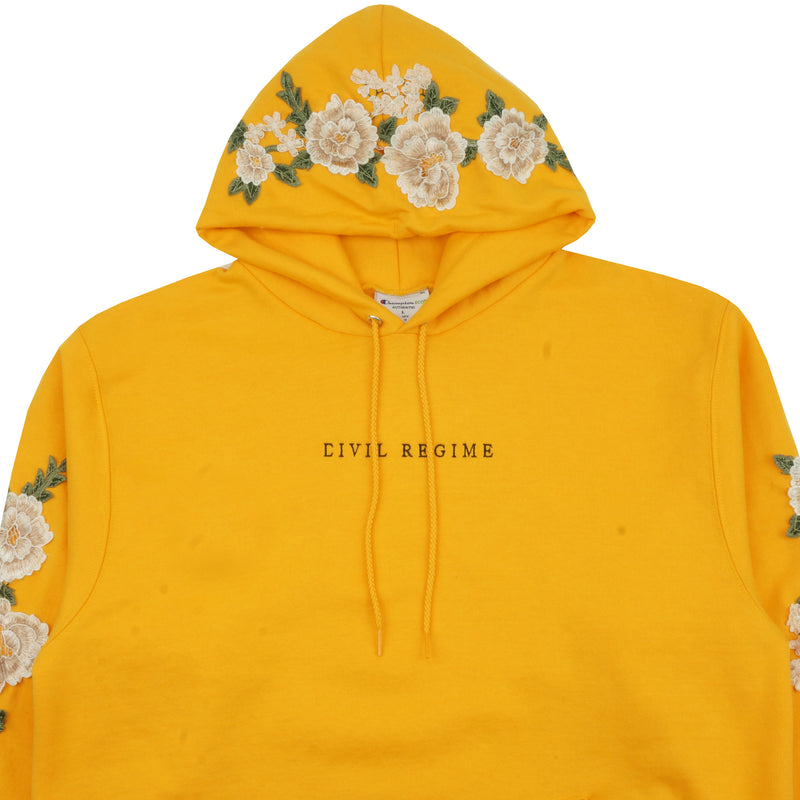 Champion Blanco Roses (Cropped) Hoodie in Gold