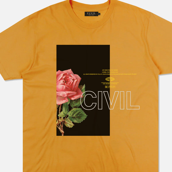 Bloom Box Tee in Gold