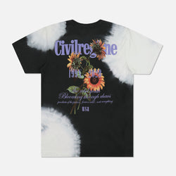 Bloom Forever Tee in Black 99 Wash