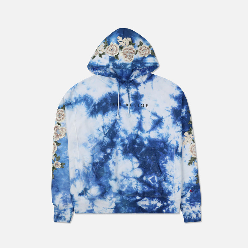 Champion Blanco Roses Hoodie in Crystal Navy