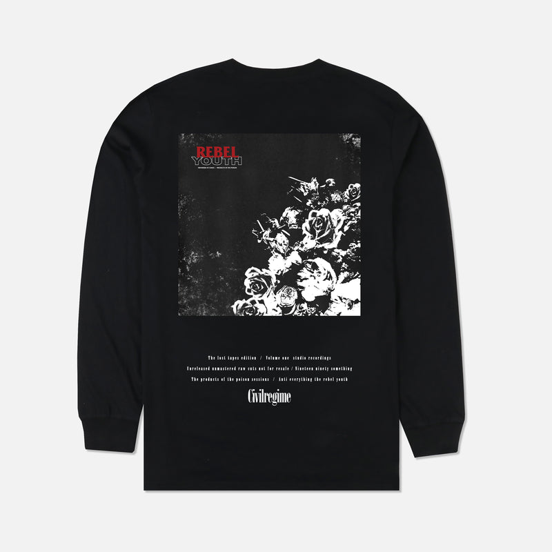 B-Sides (LS) Tee in Black