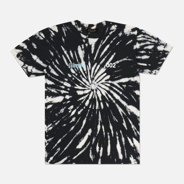 (S.I.N.) Blooming Mayhem Tee in Black Hole Wash