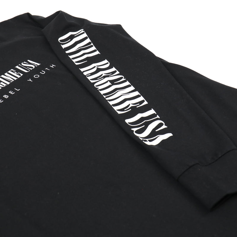 Burn Baby Burn (LS) Tee in Black