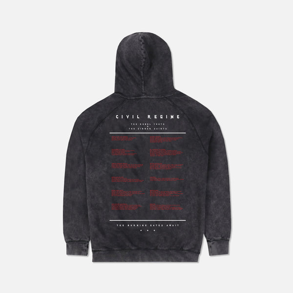 Burning Gates Hoodie in Vintage Black