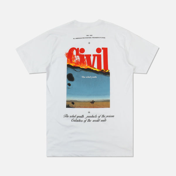 Let It Burn Tee in White
