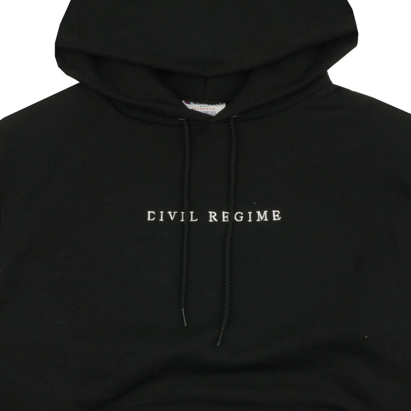Civil Champion Embroidered Hoodie in Black