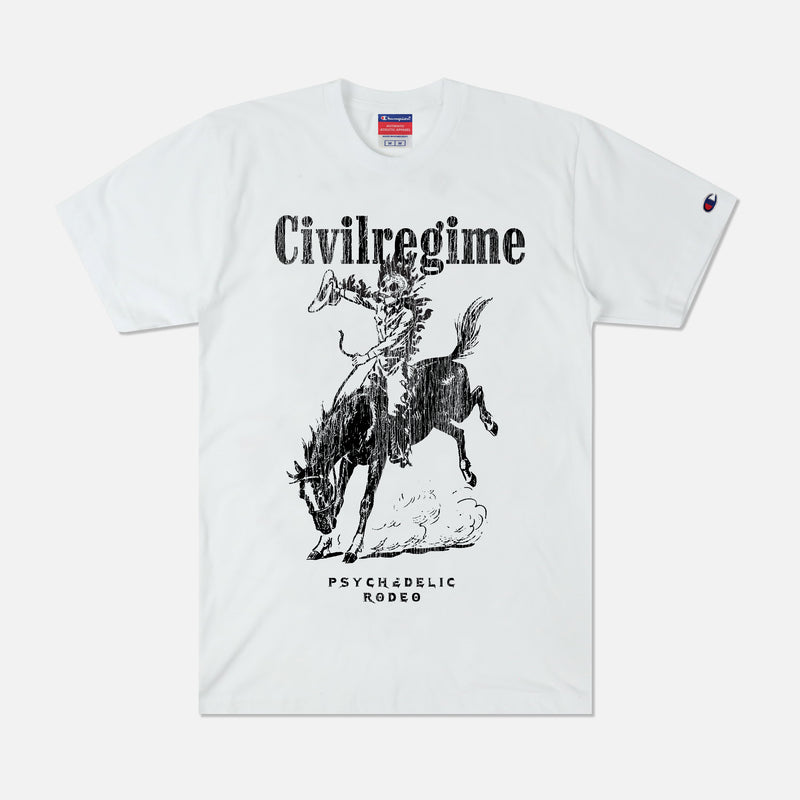 Psychedelic Rodeo Champion Tee in White