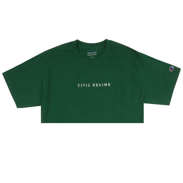 2dbdd5b8 Cropped Champion Civil Embroidered Tee in Green – Civil Regime