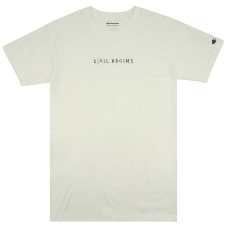 Champion Civil Embroidered Tee in White