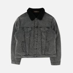 Corduroy Sherpa Jacket in Black