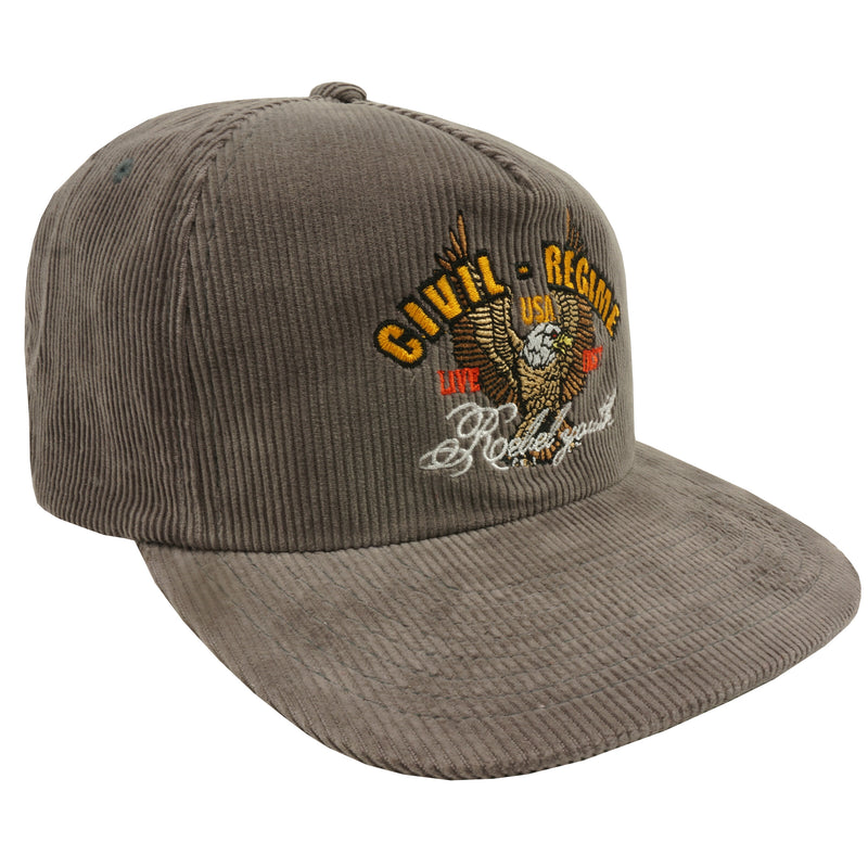 Live Fast Corduroy Snapback in Tan