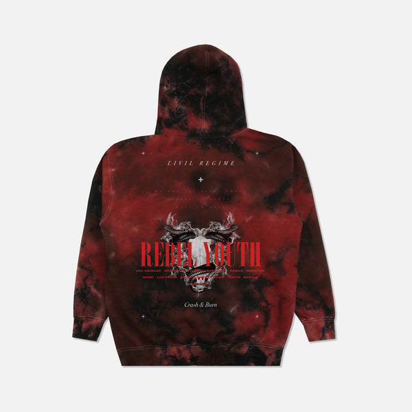 Crash And Burn Hoodie in Lava