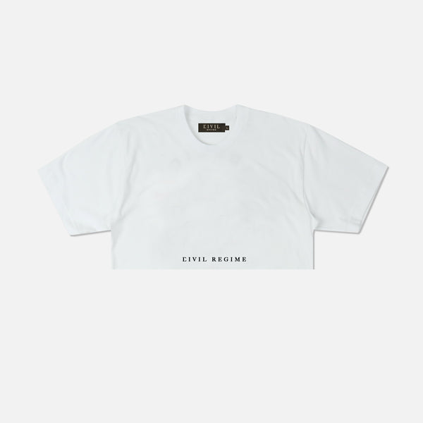 Blur (Crop) Tee in White