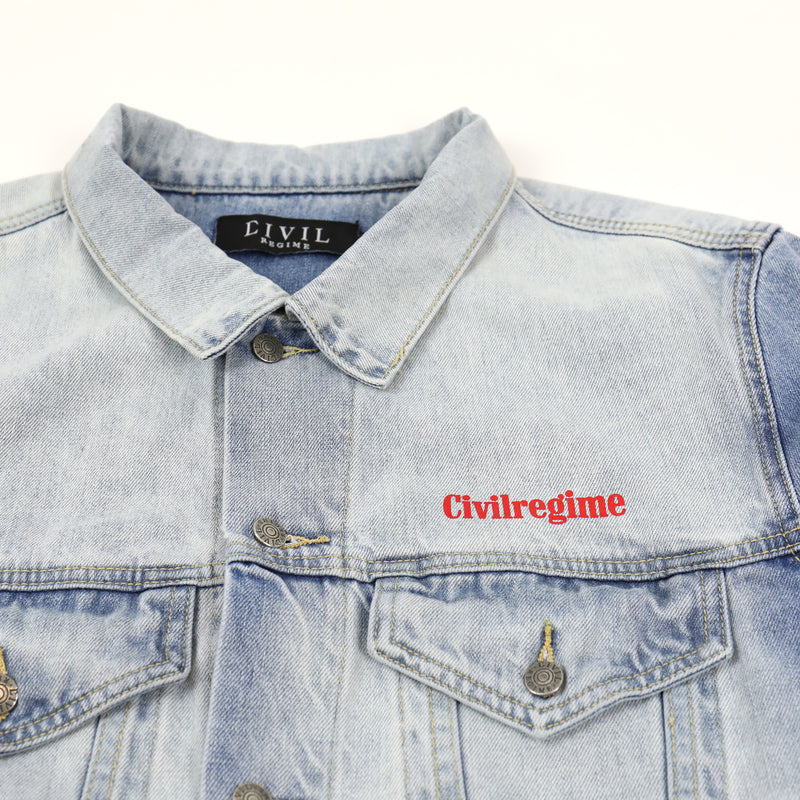 Chaos Denim Jacket in Light Blue