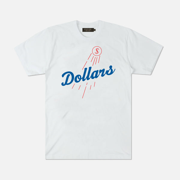 Dollars Tee in White