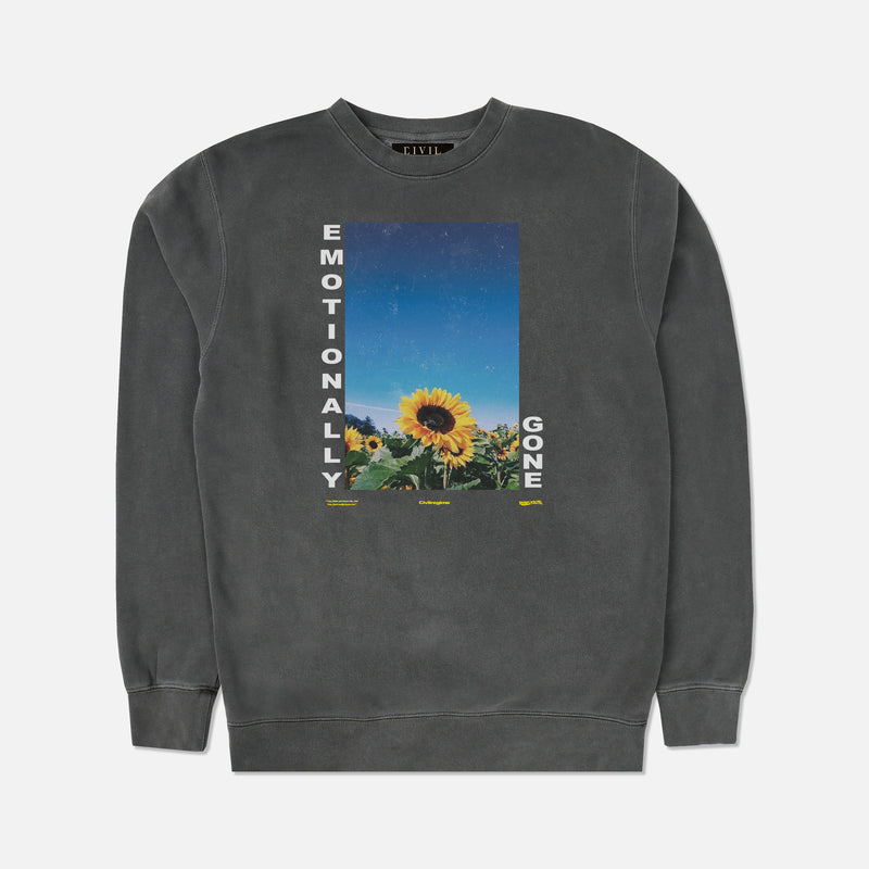 Emotionally Gone Crewneck in Pigment Gray