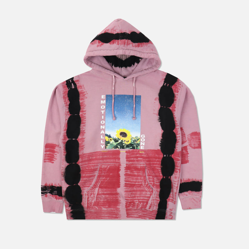 Emotionally Gone Hoodie in Red Dreams Wash