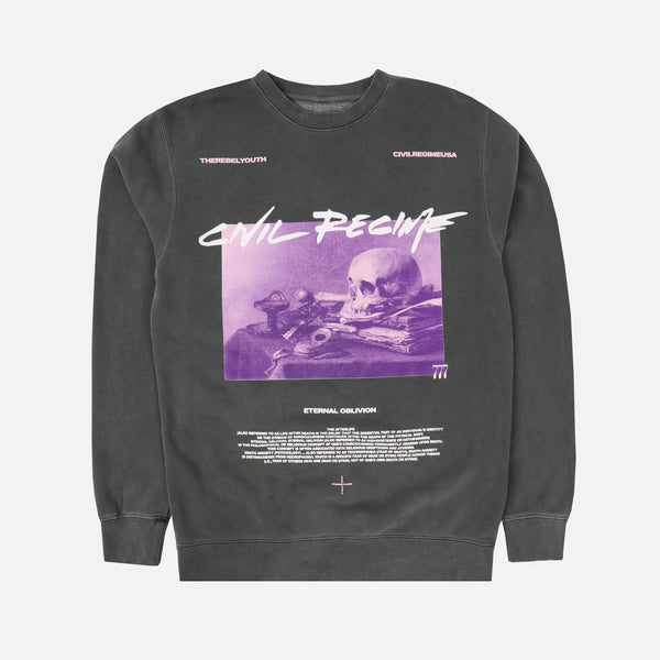 Eternal Oblivion Crewneck in Pigment Gray