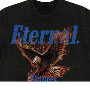 Eternal Flames (CROP) Tee in Vintage Black