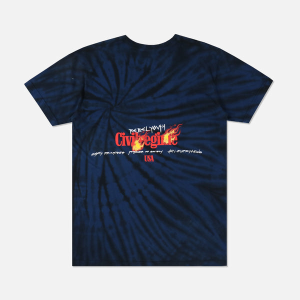 Faster Tee in Midnight Spiral