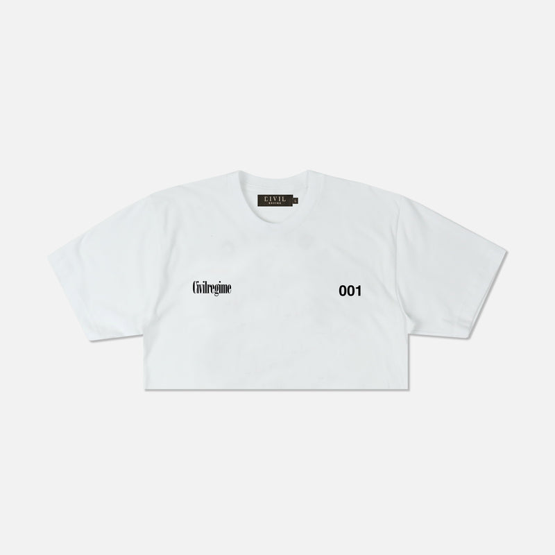 (S.I.N.) Unlocked (Cropped) Tee in White