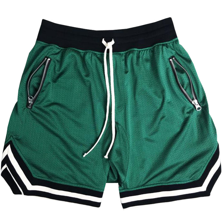 Mesh BBall Shorts in Green