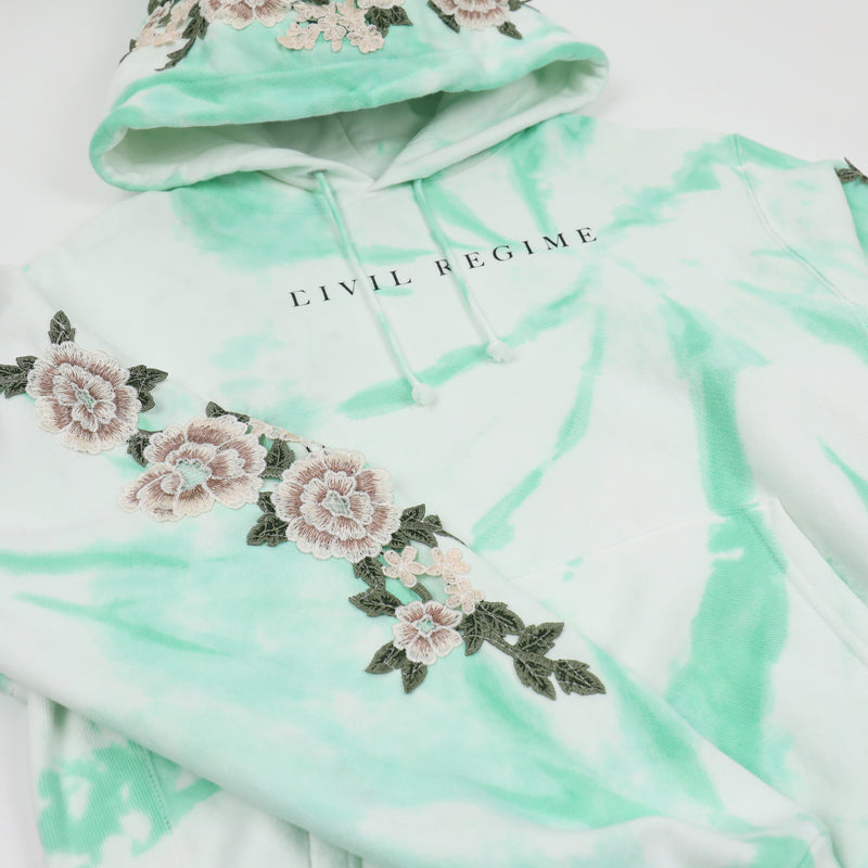 Champion Blanco Roses Hoodie in Aqua Spiral