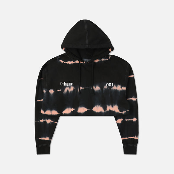 (S.I.N.) Spine (Cropped) Hoodie in Heartbeat Wash