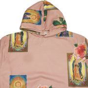 Holy Floral Pullover Hoodie In Mauve