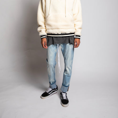 Bleach Spotted Denim Jeans