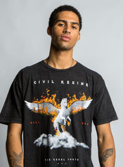 Burning Gates Tee in Vintage Black