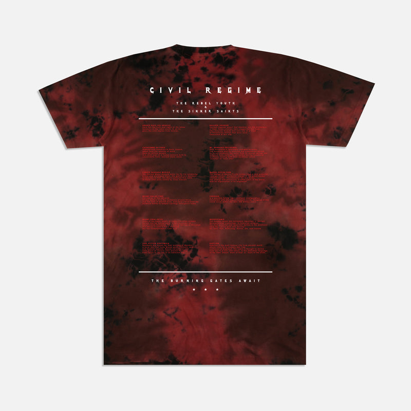 Burning Gates Tee in Lava