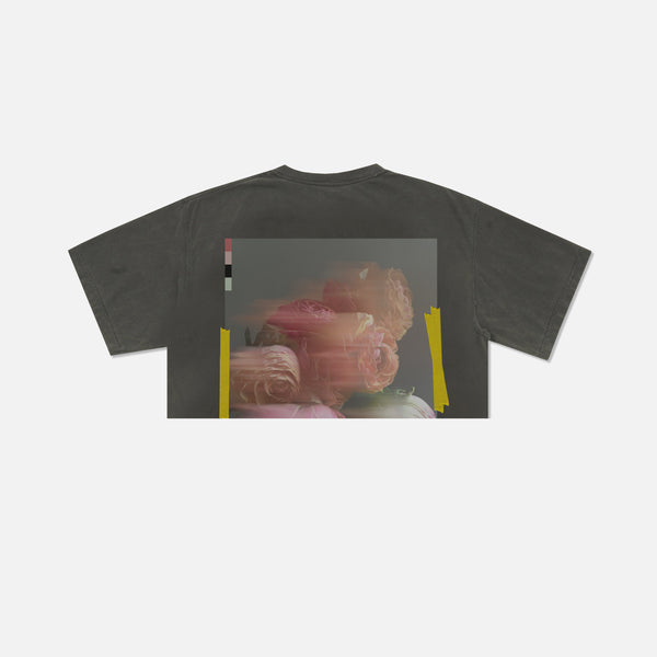 Blur (Crop) Tee in Charcoal