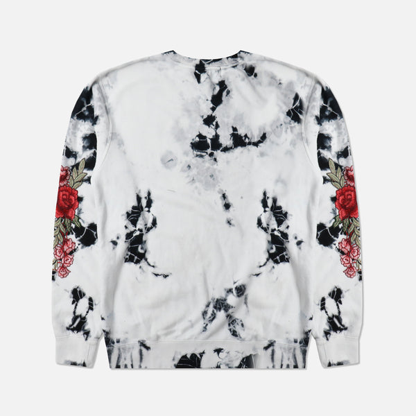 Red Roses Crewneck Sweater in Marble