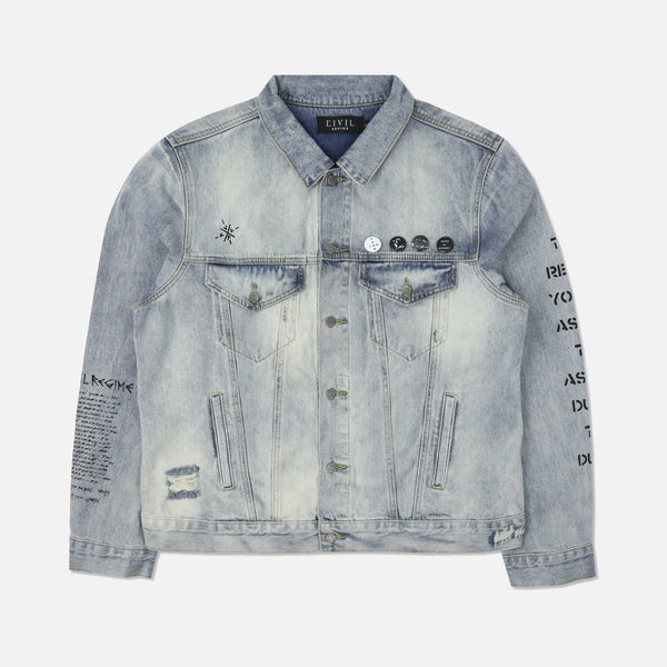 Total Mayhem Denim Jacket in Indigo
