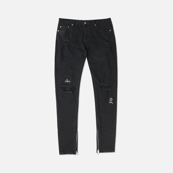 No Hope Denim Jeans in Black