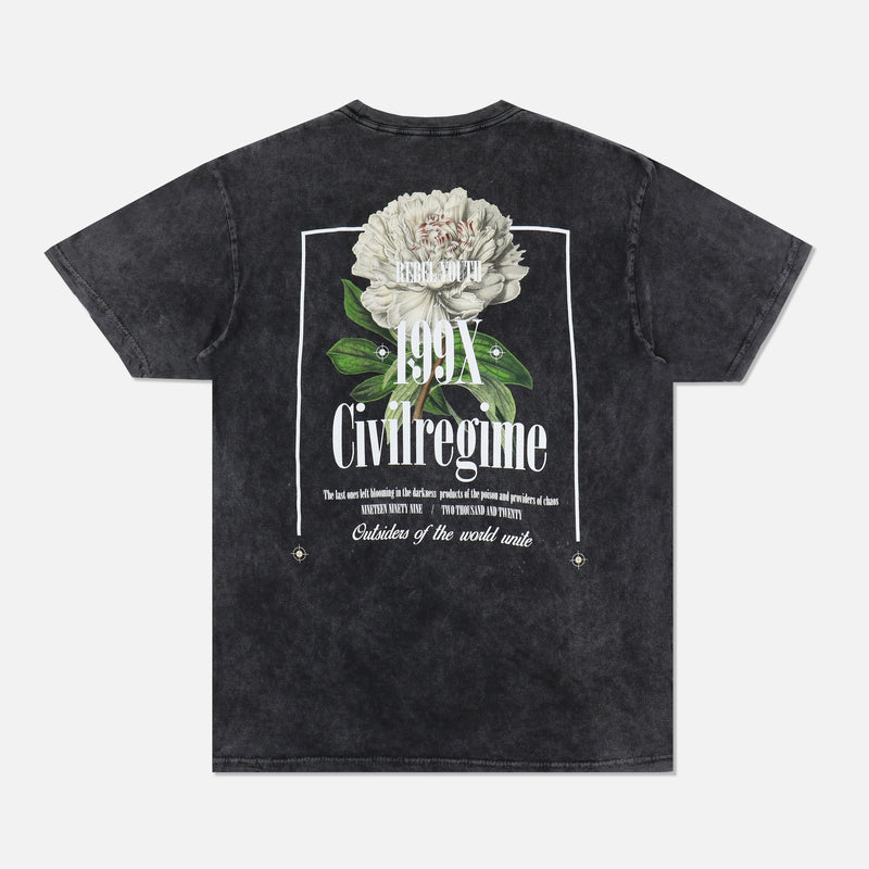 New Bloom Tee in Vintage Black
